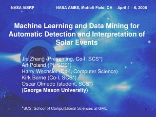 Machine Learning and Data Mining for Automatic Detection and Interpretation of Solar Events