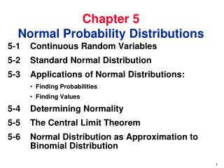 Chapter 5 Normal Probability Distributions
