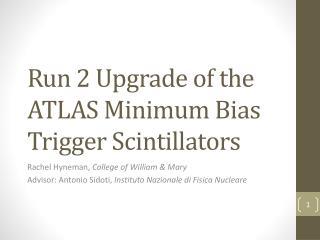 Run 2 Upgrade of the ATLAS Minimum Bias Trigger Scintillators