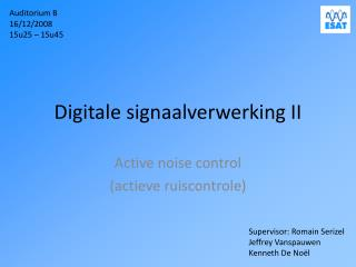 Digitale signaalverwerking II