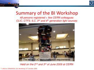 T. Lefevre, CERN BE/BI, CLIC Workshop 15 th  October 2009