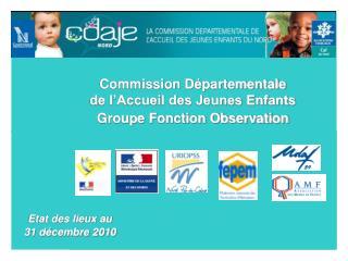 Commission Départementale  de l'Accueil des Jeunes Enfants Groupe Fonction Observation
