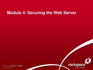 Module 4: Securing the Web Server