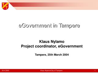 eGovernment in Tampere