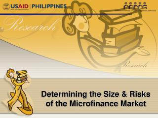 Determining the Size & Risks of the Microfinance Market