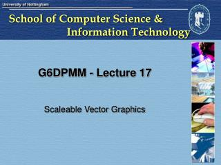 G6DPMM - Lecture 17