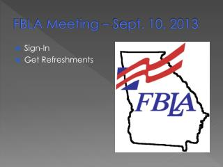 FBLA Meeting – Sept. 10, 2013