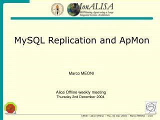 MySQL Replication and ApMon