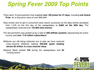 Spring Fever 2009 Top Points