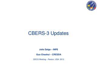 CBERS-3 Updates