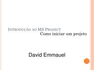 Introdução ao MS Project