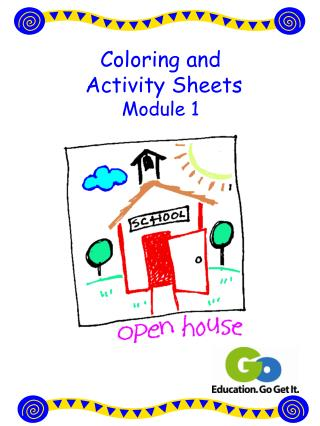 Coloring and  Activity Sheets Module 1
