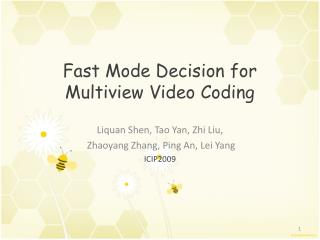 Fast Mode Decision for Multiview Video Coding