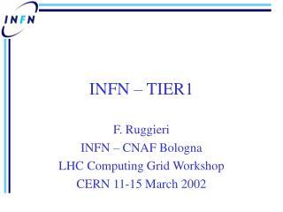 INFN – TIER1