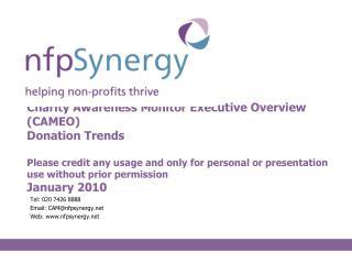 Tel: 020 7426 8888 Email: CAM@nfpsynergy Web: nfpsynergy