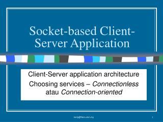 Socket-based Client-Server Application
