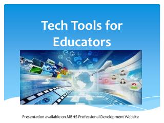 Tech Tools for Educators
