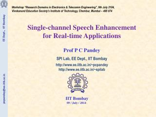 """Workshop """"Research Domains in Electronics & Telecomm Engineering"""", 9th July 2104,"""