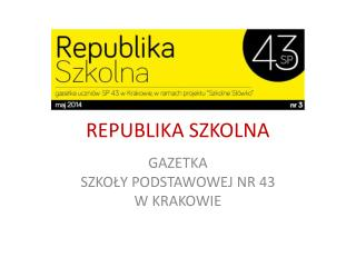REPUBLIKA SZKOLNA