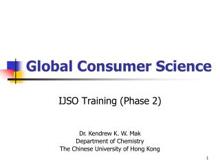 Global Consumer Science