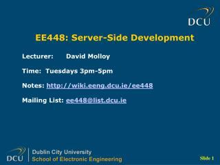 EE448: Server-Side Development