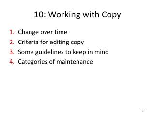 10: Working with Copy