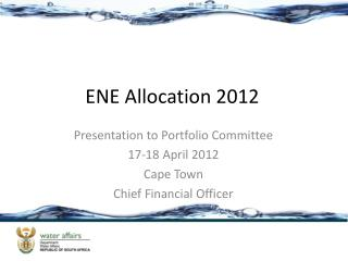 ENE Allocation 2012