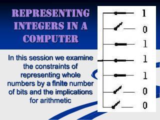 Representing Integers in a Computer