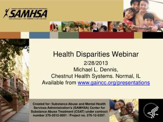 Health Disparities Webinar