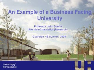 An Example of a Business Facing University