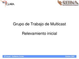 Grupo de Trabajo de Multicast Relevamiento inicial