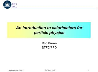 An introduction to calorimeters for particle physics