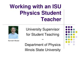 Working with an ISU Physics Student Teacher