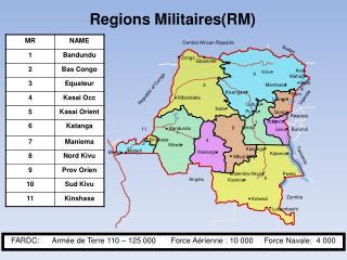 Regions Militaires(RM)