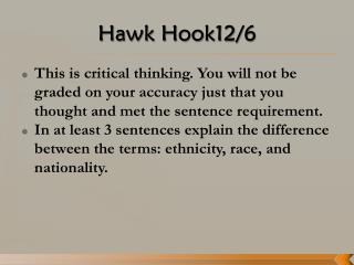 Hawk Hook12/6