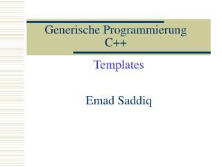 Generische Programmierung C++