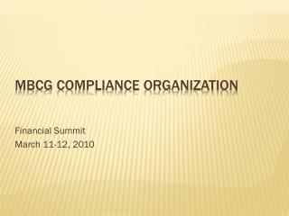 MBCG Compliance Organization