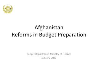 Afghanistan Reforms in Budget Preparation