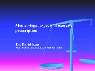 Medico-legal aspects of exercise prescription