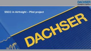 SSCC in  Airfreight  – Pilot  project