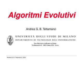 Algoritmi Evolutivi