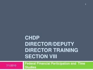 Chdp Director