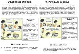 UNIVERSIDADE EM GREVE