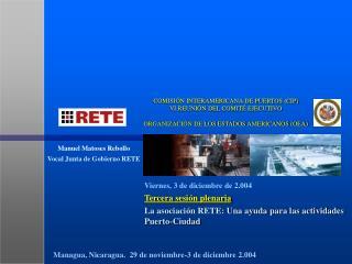 Tercera sesión plenaria La asociación RETE: Una ayuda para las actividades Puerto-Ciudad