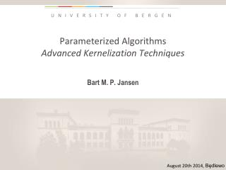 Parameterized Algorithms Advanced Kernelization Techniques