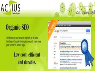 ACSIUS Technologies Pvt Ltd. A Comprehensive Approach of Internet Marketing