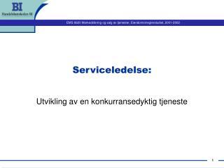 Serviceledelse: