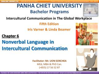 Intercultural Communication in The Global Workplace Fifth Edition Iris Varner & Linda Beamer