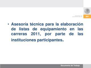 Distribución de carreras por institución