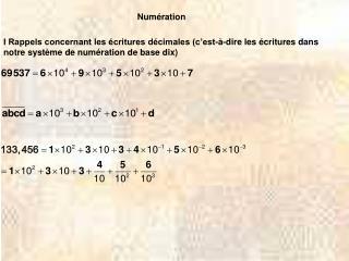 Num ration